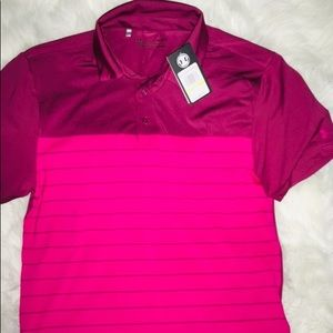Under Armour Rosewood Collared Polo Shirt SS sz Md